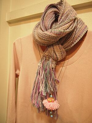 手織りマフラー2