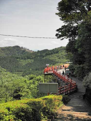 霞神社の道