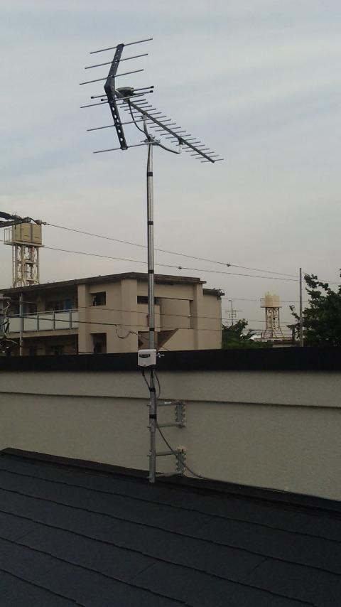 東京都北区にてアンテナ工事