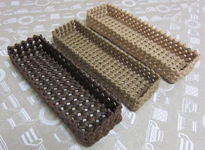 石畳編みカトラリーケース