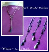20120417Vintage Pearl Necklace Silver