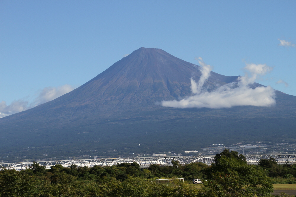 富士山隠れスポット台風一過
