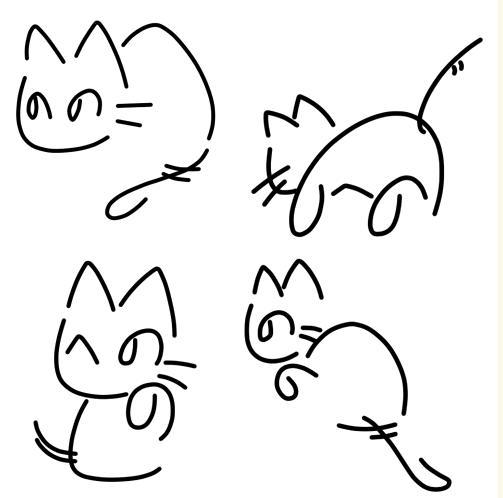 へのへのもへじ猫