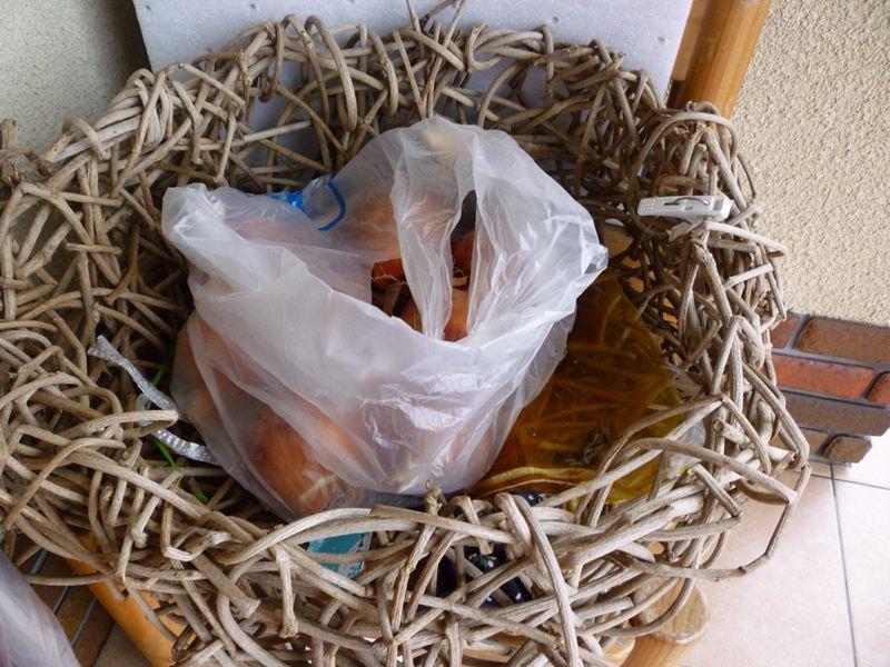 蔓で作った籠