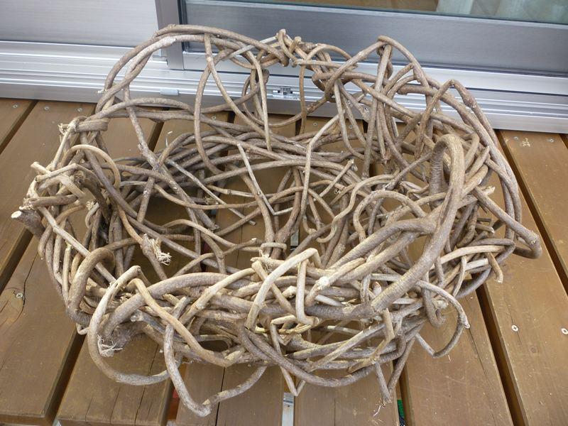 葛で籠作り