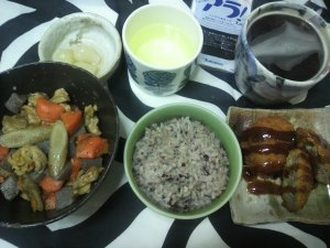 地味な夕飯