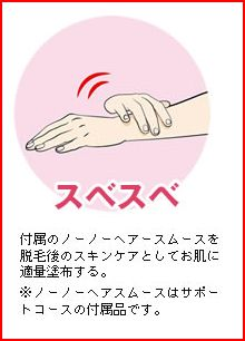 ワキ・脚・腕の脱毛 便利なお手入れアイテム 熱で脱毛する脱毛器☆no!no!hair