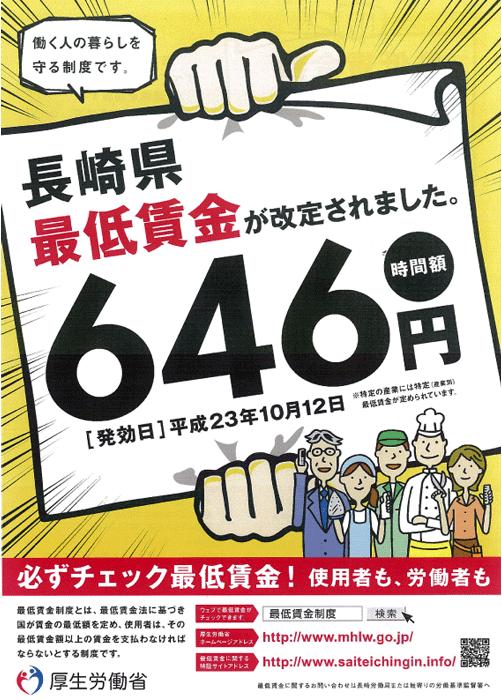 長崎県 最低賃金