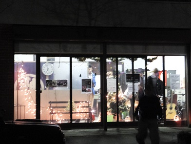 夜の旧山口紙店