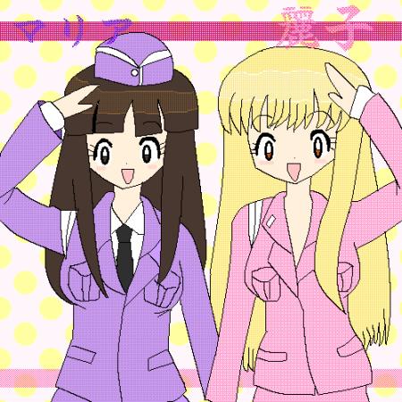 こち亀 麗子&マリア 初描き