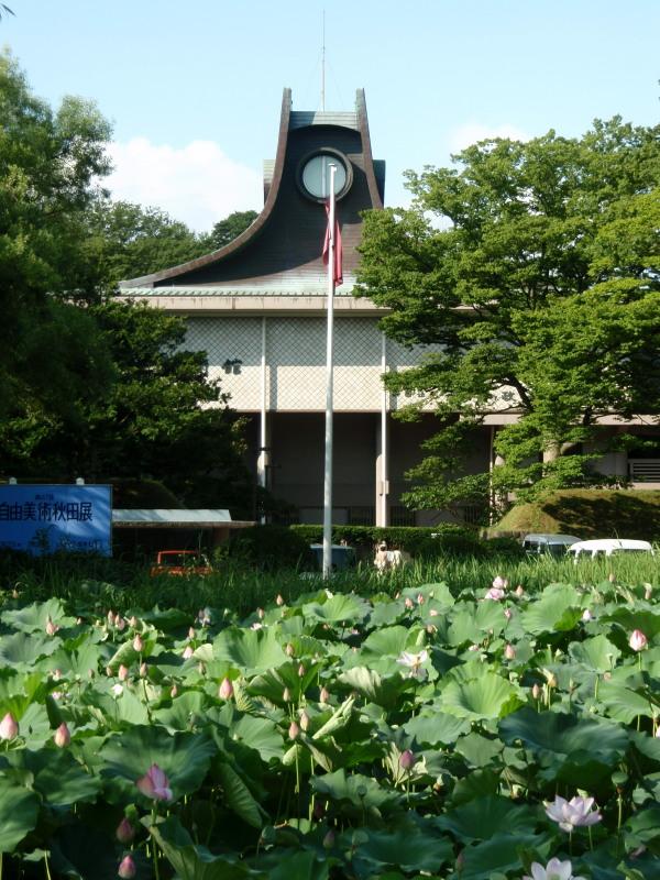 P1010468 蓮の花と平野政吉美術館600x800.jpg