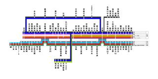 1954栄地方栄鉄路線図画像プレーン