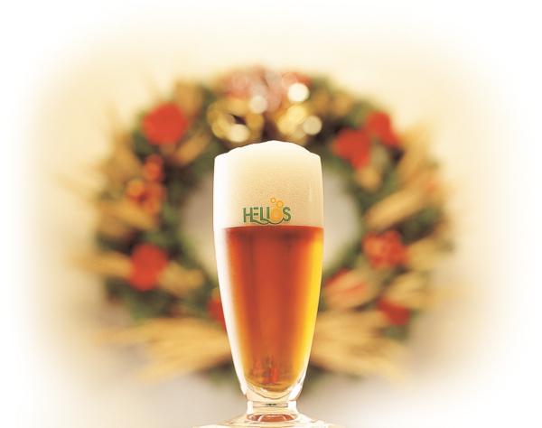 サンタビールとリース
