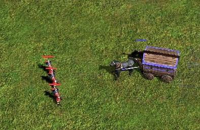 マスケ3vs戦闘馬車1