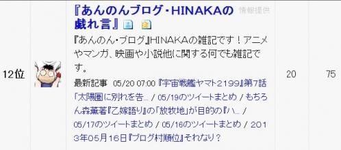 13・05・21アニメ考察12位B