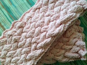 バスケット編みマフラー