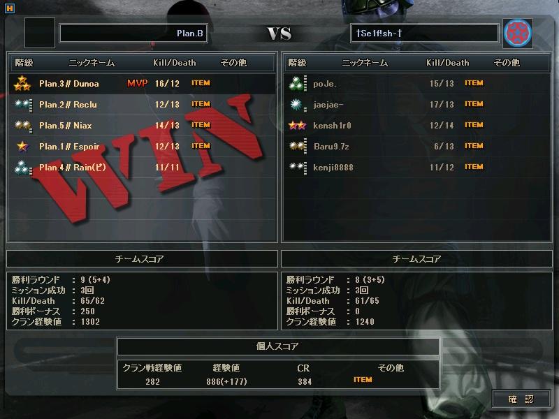 CTL1回戦 対戦結果