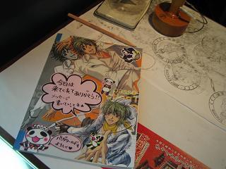 スタンプ台と素敵な記念ノート☆