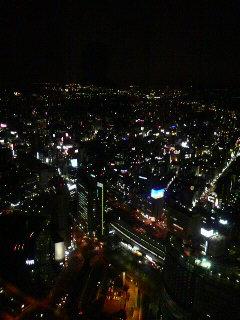 横浜の街の夜景