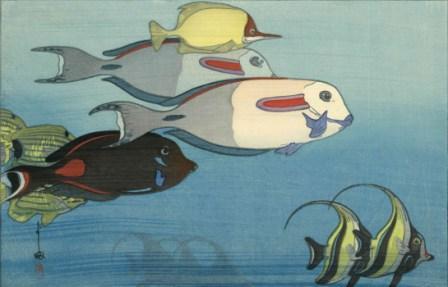 吉田博 ホノルル水族館