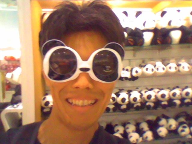 【台北】台北動物園にてパンダのグラサン売ってるやつ