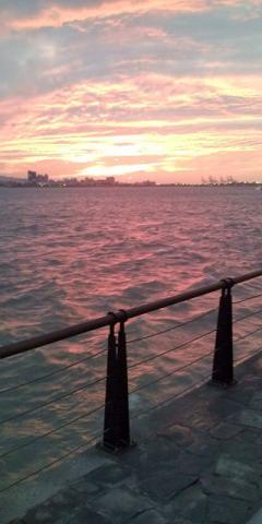 【台北】淡水の見事な夕日