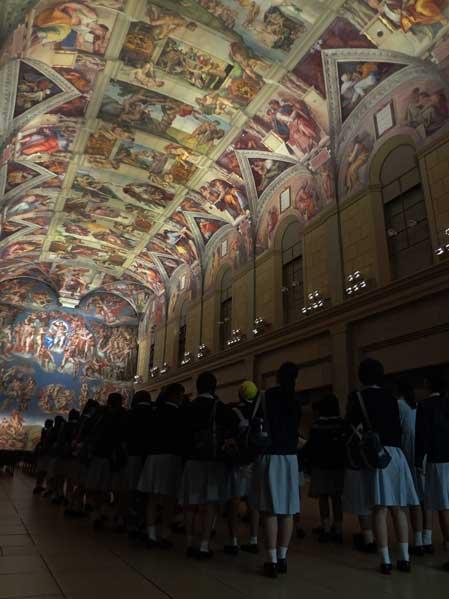 大塚美術館 システィーナ礼拝堂天井画壁画