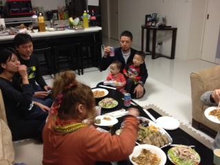 奥浜家晩餐