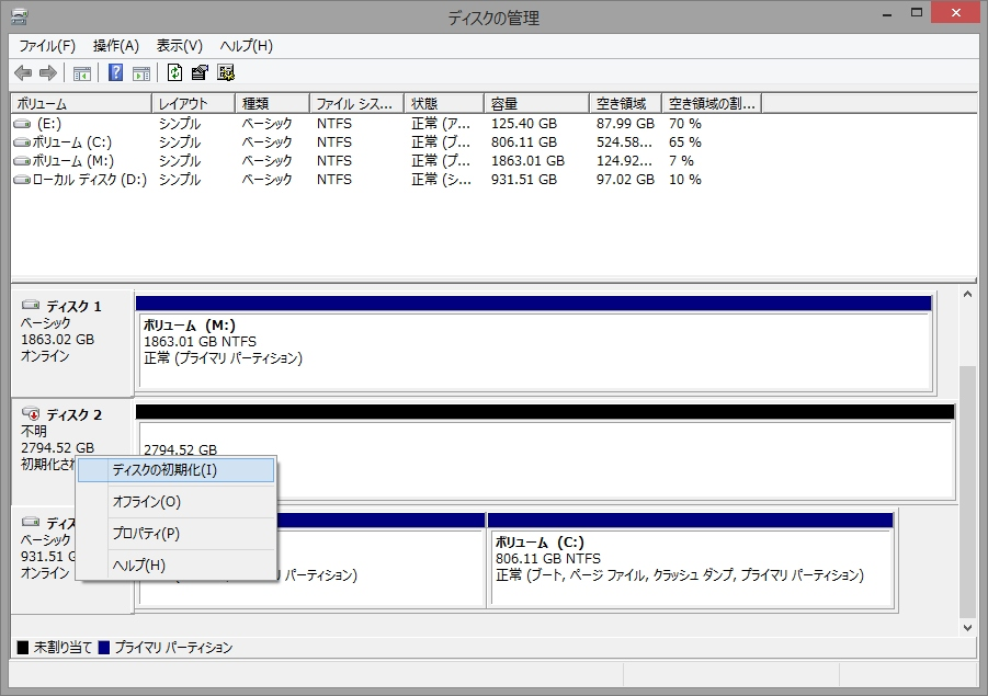 06-ディスクの管理_未割当3-初期化