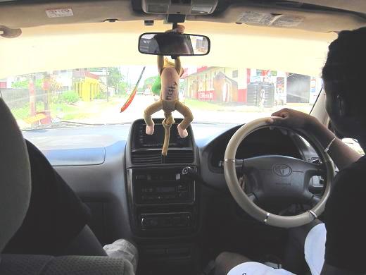 タクシー内