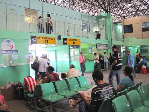 マナウスのバスターミナル