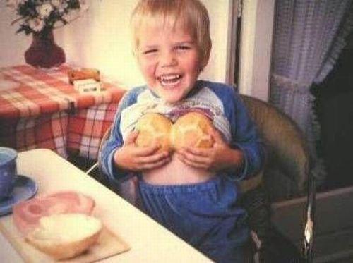 馬鹿画像子供パン