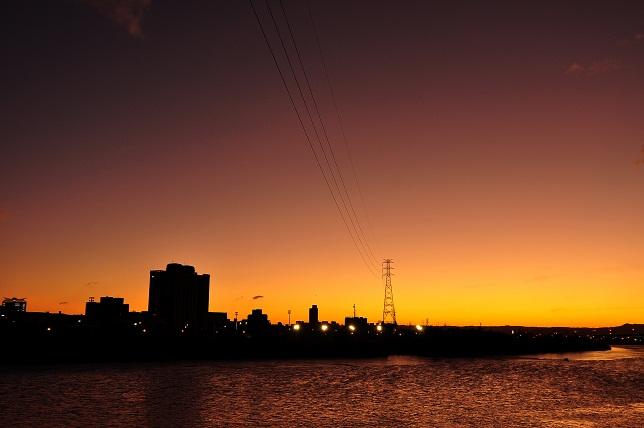 百齡橋の夕暮れ(2)