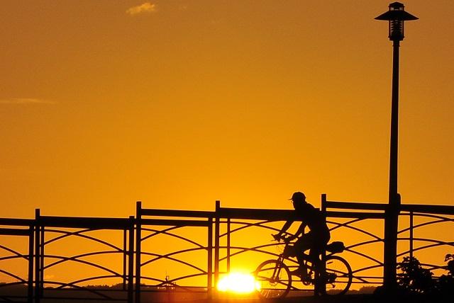 百齡橋の夕暮れ(1)