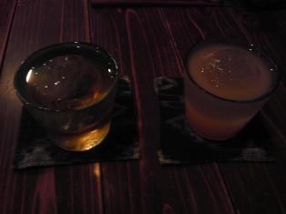 あらごしもも酒と鳳凰美田秘蔵梅酒
