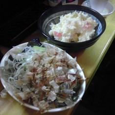 茄子の揚げびたし ポテトサラダ