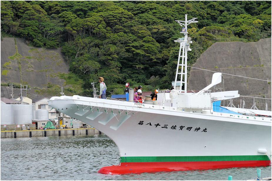 カツオ船出港