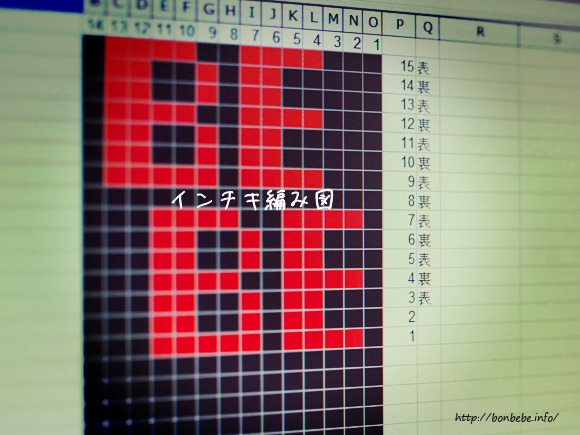 インチキ編み図