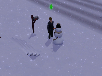 17日雪だるま