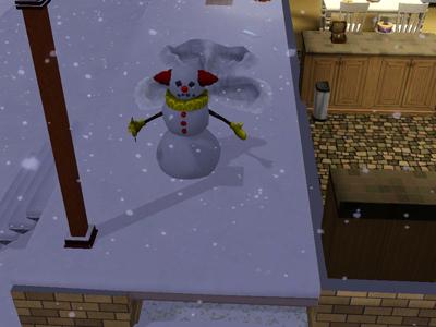 21日雪だるま