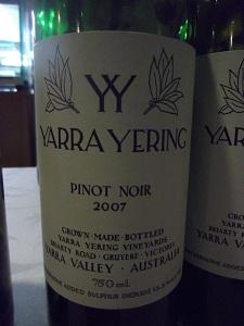 Yarra Pinot Noir 2007