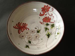 菊赤 大皿