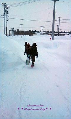 雪雪雪 と 地元の.....