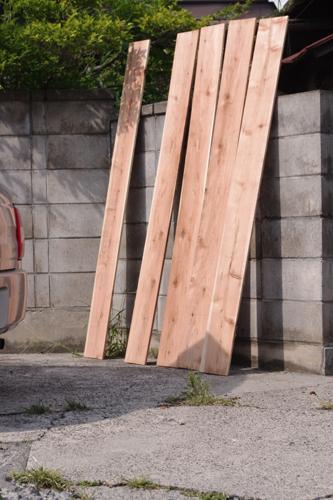 コースター素材の杉板