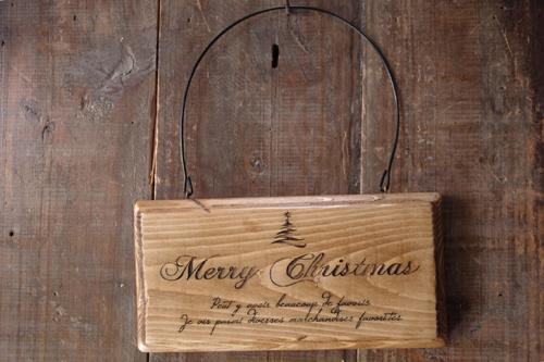 ナチュラルなクリスマス雑貨*木製プレート*ツリー
