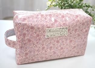 オムツポーチ ピンク小花柄110922