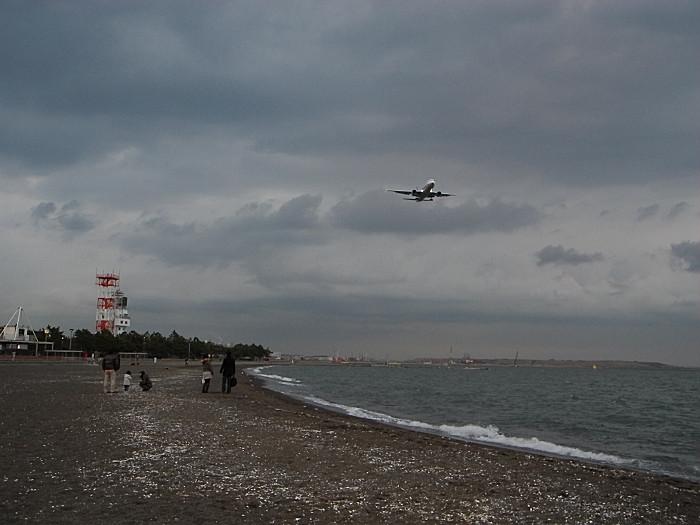 城南島の砂浜