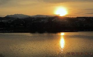 節分の夕陽