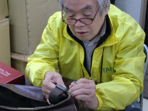 ショルダーバッグの修理!手縫いで!