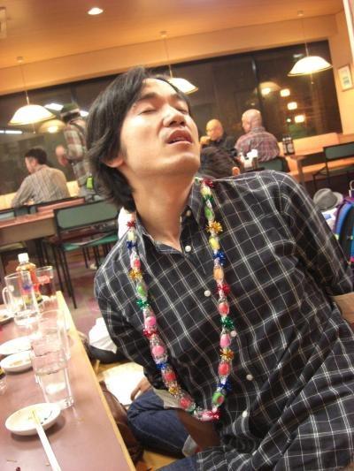 にんじん打ち上げ(一明一人誕生日)